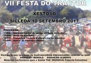 cartel VII festa do tractor en xestoso silleda